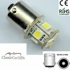 2 x POSITIVE EARTH / GROUND GLB207 BA15S 5W LED UPGRADE BULBS 15MM BAYONET