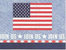 American Flag Hallmark Party Invitations - Join Us - Set of 10