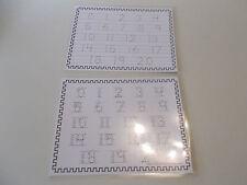 0-20 Numbers laminated dry erase preschool worksheets.  Preschool number tracing