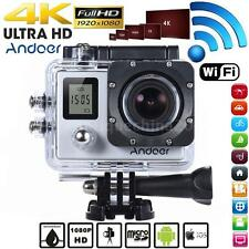 Andoer 4K 30fps/1080P Full HD 16MP Action Camera Waterproof 30m WiFi Silver A6K1