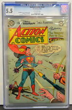 ACTION COMICS #183 CGC 5.5 Superman 1953 4th Highest Graded