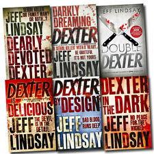 Jeff Lindsay Novel Collection 6 Books Set Dexter is Delicious, double Dexter, et