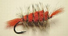 Bomber Orange - Grizzly Hackle- Orange tail #6 Salmon hook
