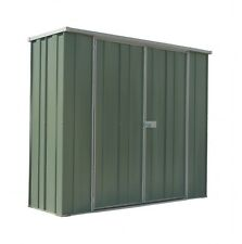 NEW YardSaver Slimline F62 Flat Roof 2.105m x 0.72m Double Door Zinc Shed