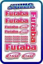 FUTABA SERVO RADIO RX TX 2.4G FLIGHT REMOTE CONTROL STICKERS FASST PINK RED W RC