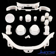 Xbox 360 Custom ABXY Guide Thumbsticks RT LT RB LB Sync Bumpers Mod Kit (White)