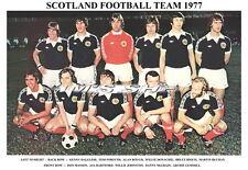 SCOTLAND TEAM PRINT 1977 (DALGLISH / BUCHAN / RIOCH/ GEMMILL)