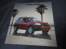 2002 Land Rover Freelander USA Market Brochure Catalog Prospekt