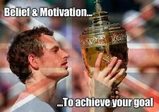 Belief & Determination to achieve your goal - Andy Murray - A4 260gsm Poster