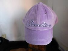 UNITED COLORS OF BENETTON GIRLS PURPLE CAP WITH VISOR SIZE XXS AGE 3-4
