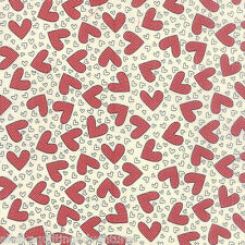MODA Fabric ~ FIRST CRUSH ~ by Sweetwater (5601 11) Vanilla Red - by 1/2 yard