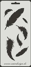 Scrapbook Stencil S-106  Feathers ~ Craft ~ UMR-Design