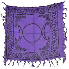 """Small Purple Triple Moon 18"""" by 18""""  Altar Cloth Wicca"""