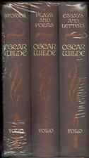 Folio Society Oscar Wilde 3 Volume ~ Stories ~ Plays &Poems ~ Essays & Letters