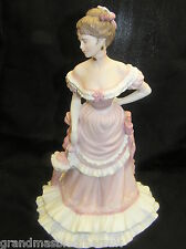 "COALPORT AGE OF ELEGANCE 8.25""  LADY FIGURE PROMENADE MATT FINISH PORCELAIN"