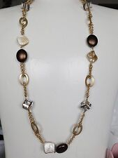 """Stunning Lia Sophia """"LOOKING GLASS""""  Necklace, 36-397"""", Vintage Glamour, NWT"""