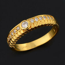Yellow Gole Filled White Topaz Womens Wedding Ring Size 7 jewelry free shipping