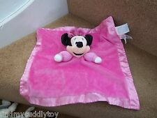 DISNEY PINK MINNIE MOUSE BABY COMFORTER BLANKET SOFT TOY BLANKIE RATTLE DREAM