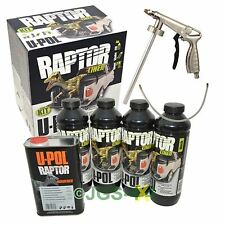 UPOL RAPTOR Ultra Tough Truck Bed Liner Coating Car Underseal BLACK + Spray Gun
