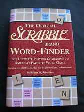 THE OFFICIAL SCRABBLE BRAND WORD FINDER BY ROBERT W SCHACHNER  1998 HARD COVER