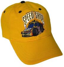 CAT Racing Mens Yellow Caterpillar Speed Shop Hat NEW