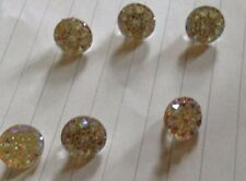 stenstion glitter buttons CRYSTAL/gold clothes craft (10pk)