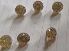 Botones DE Oro Cristal/Brillo stenstion ropa Craft (10pk)
