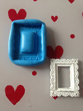 decretive frame silicone mould (cupcake.shabby chic.vintage.wedding.love.cake )