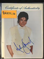 RARE AUTHENTIC MICHAEL JACKSON  8X10 COLOR AUTOGRAPH PHOTO