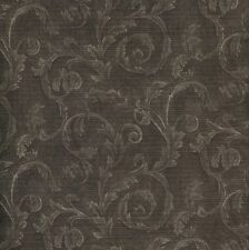 WALLPAPER BY THE YARD 978-60161 Silk and Satin Scroll Distressed