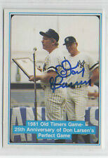 Don Larsen 1982 ASA Mickey Mantle signed auto autographed card New York Yankees