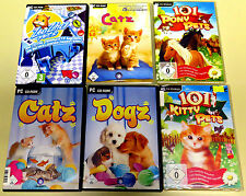 PC SPIELE SAMMLUNG ZHU ZHU PETS 101 PONY KITTY CATZ DOGZ KINDER TIER SIMULATION