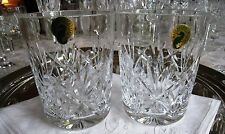 WATERFORD IRISH CRYSTAL..EVE PATTERN..DOUBLE OLD FASHIONED GLASSES...SET OF TWO.