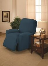 "JERSEY RECLINER COVER----LAZY BOY-----COBALT----""STRETCHES"" --""WASHABLE""--"