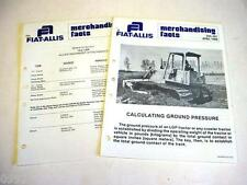Fiat-Allis 14-C Crawler Dozer Information from Dealer Sales Manual 6 Pages