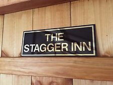 PERSONALISED BAR FATHERS DAY ANY NAME SIGN BBQ GARDEN PUB HOME BAR NOVELTY GIFT