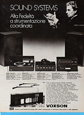 (AM) EPOCA974-PUBBLICITA'/ADVERTISING-1974-VOXSON SOUND SYSTEMS