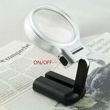 3X rotate  Magnifier Collapsible Magnifying Glass LED WITH Folding Stand