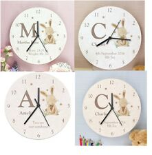 baby/childs clock wooden shabby chic personalised, new baby, birthday gift