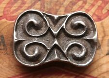 Vintage Artist Hand Made Sterling Silver Cast Western Belt Buckle