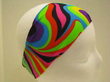 Spandex Fitness Headband-Bolder Wider Stretch Hair Bands-Running-Tie Dye-TieDye