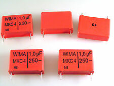 Wima 1uf 10% 250V MKC4 Metallized Polycarbonate 5 pieces OL0696
