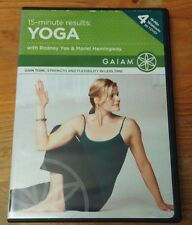 15 Minute Results Yoga (DVD, 2008) Rodney Yee and Mariel Hemingway Gaiam tone