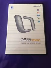 Microsoft Office Mac 2004 Student & Teacher Edition al por menor con clave de producto