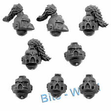 WARHAMMER 40K BITS: SPACE WOLVES WOLF PACK - HELMETS 8x