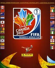 (50) 2015 Panini Women's World Cup Canada 56 Page Stickers Collectors Album!