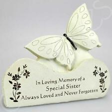 Special Sister Butterfly Graveside Memorial Plaque Ornament Grave Decoration