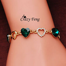 New charm crystal chain heart bracelet for Women Accessories :D