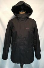 JACK WOLFSKIN WOMEN'S ICELAND 3 IN 1 FLEECE JACKET HOODED COAT BLACK MEDIUM $200