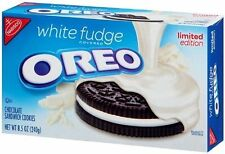 Nabisco OREO WHITE FUDGE Covered Chocolate Sandwich Cookies LIMITED EDITION